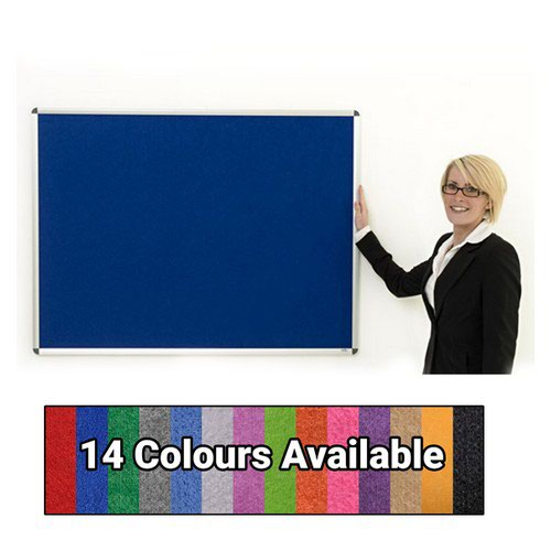 Eco-Sound Aluminium Framed 1500w x 1200h Noticeboard Blue