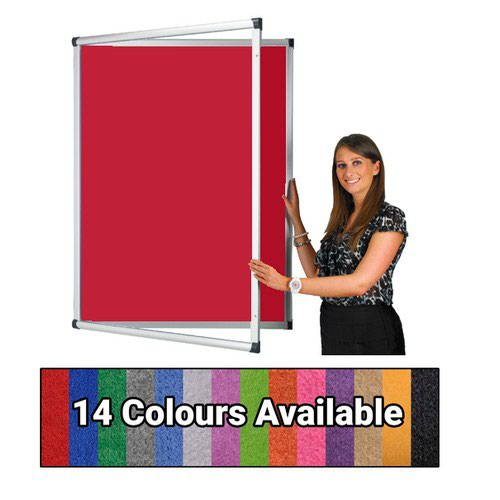 Eco-Sound Tamperproof Blazemaster 2400w x 1200h Noticeboard Red