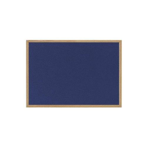 Earth Wood Effect Frame Blue Felt Notice Board 1800x1200mm