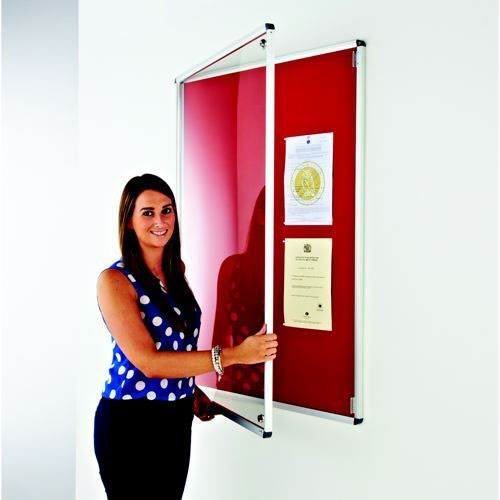 Adboards Tamperproof Noticeboard 900x600 Varied Colours