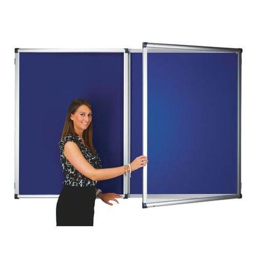 Adboards Blazemaster Deluxe Double Door Tamperproof Noticeboard 1200x1200