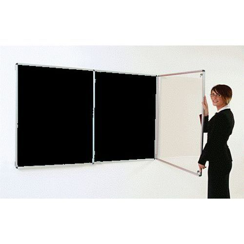 Adboards Blazemaster Deluxe Double Door Tamperproof Noticeboard 1200x1800