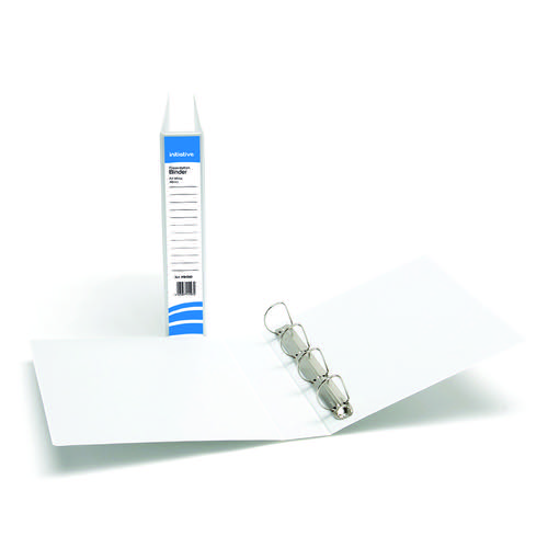 Initiative Presentation Binder 4D Ring 40mm Capacity White