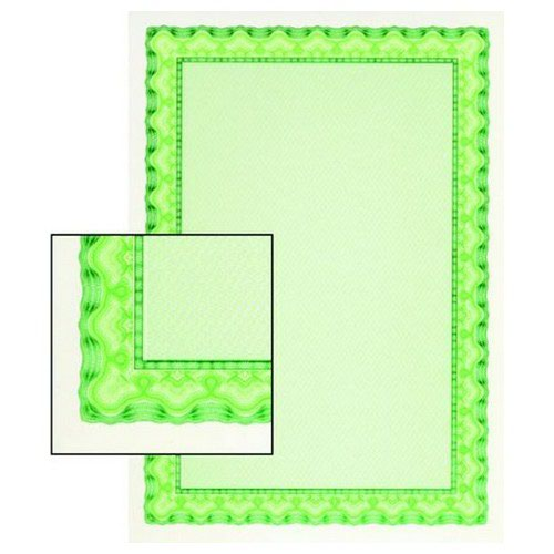 Decadry Certificate Paper A4 115gsm Shell Emerald Green Pack 25