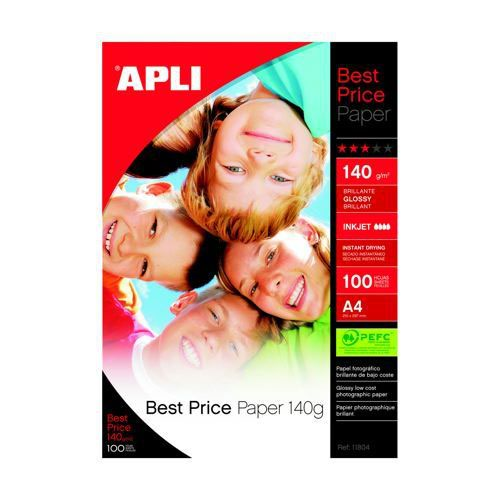 Apli Best Price Glossy Paper Paper A4 140gsm 100 Sheets