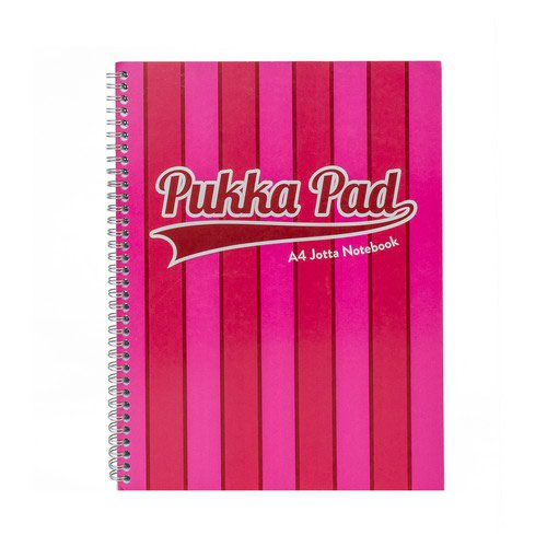 Vogue A4 Jotta Pad Pink With 200 Pages Of Quality 80Gsm Paper And A Vibrant Card Cover