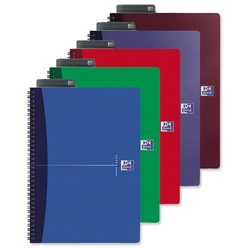 Oxford Office Wirebound Laminated Cover Notebook A5 Pack 5