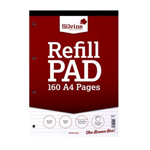 Silvine Refill Pad Feint A4 75gsm 160 Pages