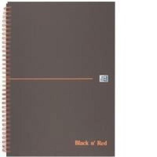 Black N Red Matt Black Wirebound Notebook Ruled Perforated 140P A4
