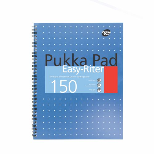 Pukka A4 Metallic Easy-Riter Pad Blue 150 Pages 80gsm