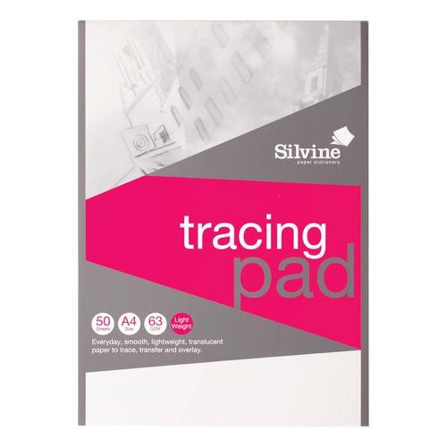 Silvine A4 Tracing Pad 63gsm 50 sheets