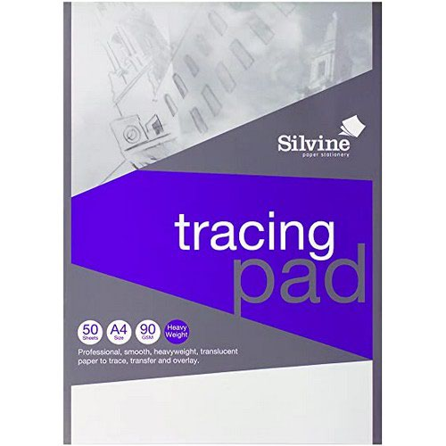 Silvine A4 Professional Tracing Pad 90gsm 50 Sheets