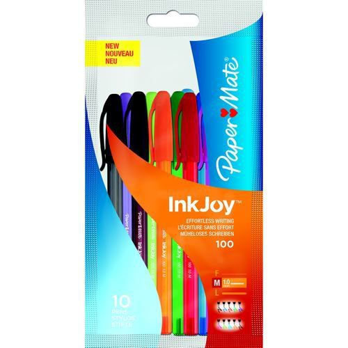 PaperMate Inkjoy 100 Ball Point Pen Assorted Pack of 8