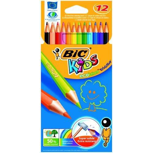 Bic Kids Evolution Colour Pencils Assorted Wallet of 12
