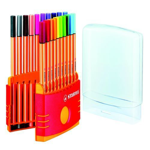 Stabilo Point 88 Fineliner ColorParade Pack of 20 Assorted