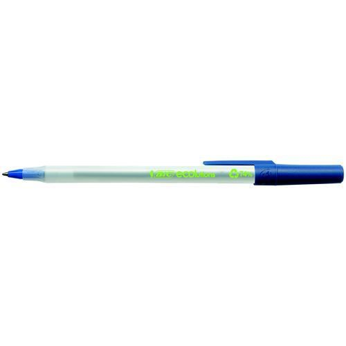 Bic Ecolutions Round Stic Ball Point Pen Blue