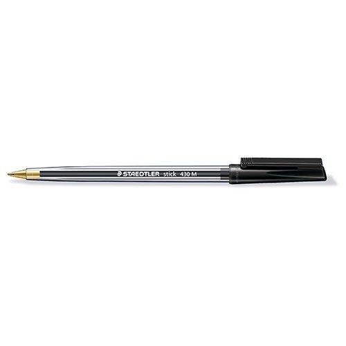 Staedtler 430 Stick Ball Point Pen Medium 1.0mm Tip 0.35mm Line Black