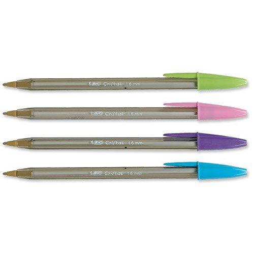 Bic Cristal Large Ball Point Pen Fashion Inks Purple