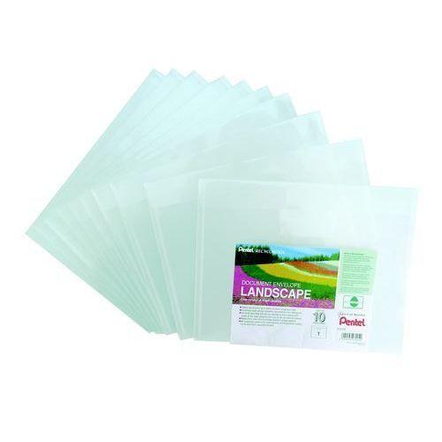Pentel Recycology Document Envelope Polypropylene 240x310mm Landscape Clear (Pack 10)