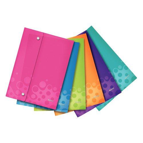 Leitz Wow L Wallet Folder A4 Polypropylene Assorted Pack 6
