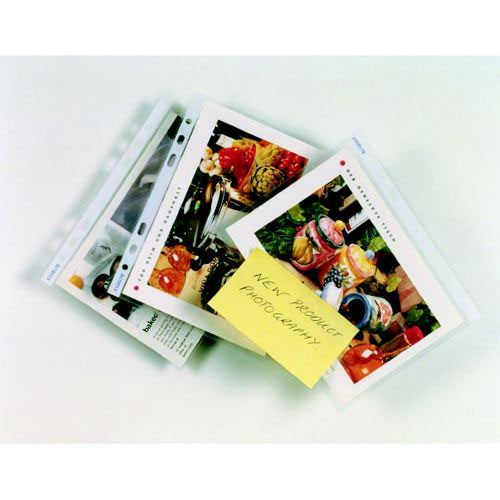 Esselte Pocket Polypropylene Multipunched Top-opening A5 Portrait Clear 25s