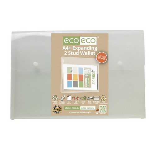 Eco A4+ 95% Recycled Expanding 2 Stud Wallet
