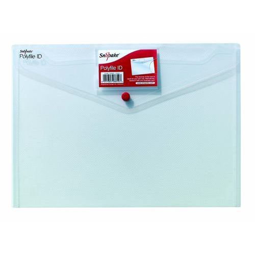 Snopake Polyfile ID Wallet File Polypropylene with Card Holder A4 Clear