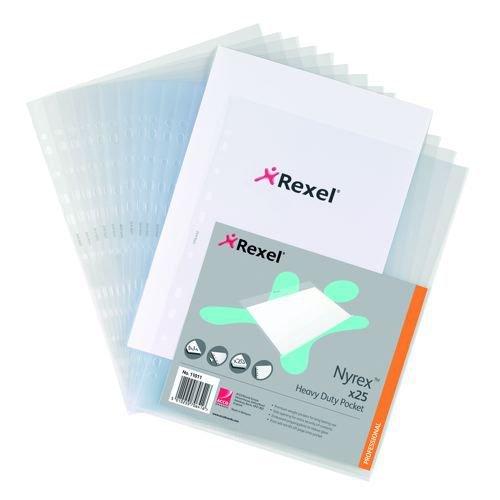 Rexel Heavy Duty Side Open Pockets Pack 25