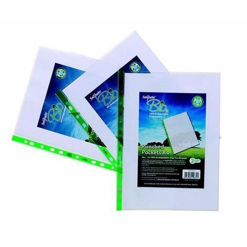 Snopake Biodegradable Punched Pockets Pack 25