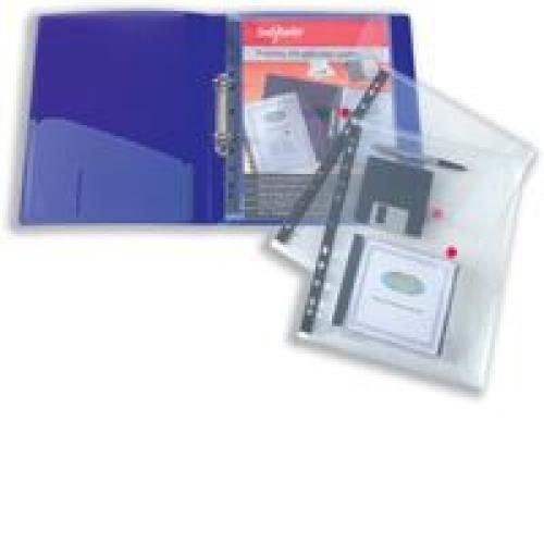 Snopake Polyfile Ring Binder Wallet Clear A4