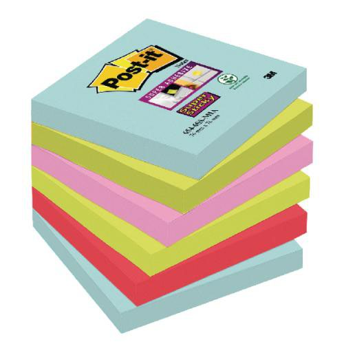 Post-It Ss Miami Notes 76 X 76 Pk6 3for2