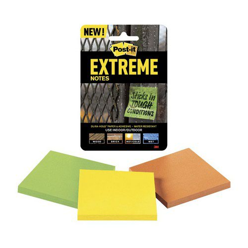 Post-It Extreme 76x76mm Assorted Pack 24