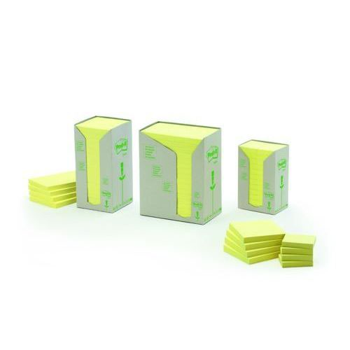 3M Post-It Recycled Pads 38x51mm Yellow