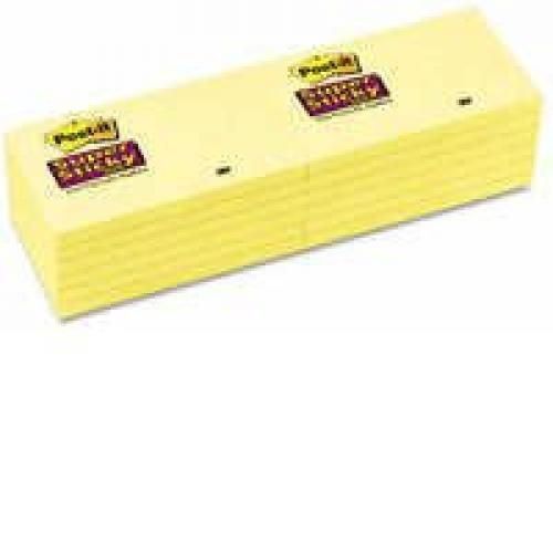 3M Post-It SuperSticky 3x5 Canary Yellow