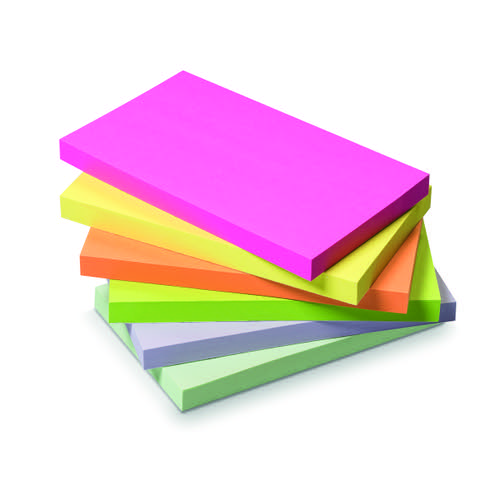 Initiative Sticky Notes Assorted Neon & Pastel 76 x 127mm 100 Sheets
