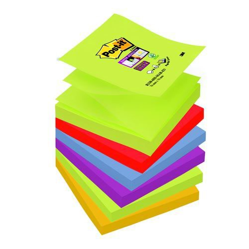 Post-it Super Sticky Z-Notes Marrakesh Colour Set 76x76mm Pack 6