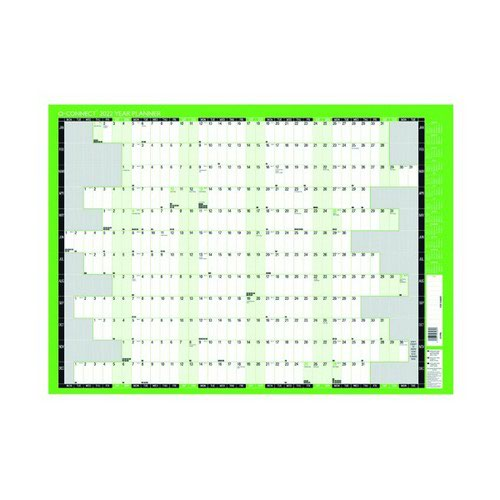 Q-Connect Year Planner Unmounted 2022 KFYPU22 855 x 610mm