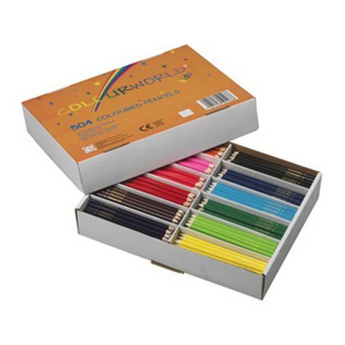 Colourworld Coloured Pencils Assorted Pack 504