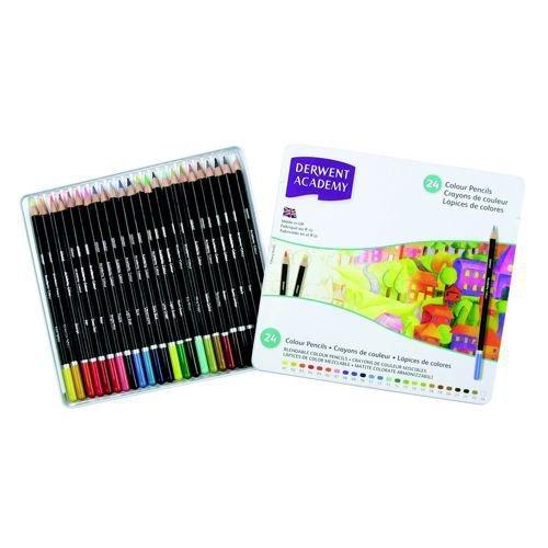 Derwent Academy Colour Pencils Assorted 24