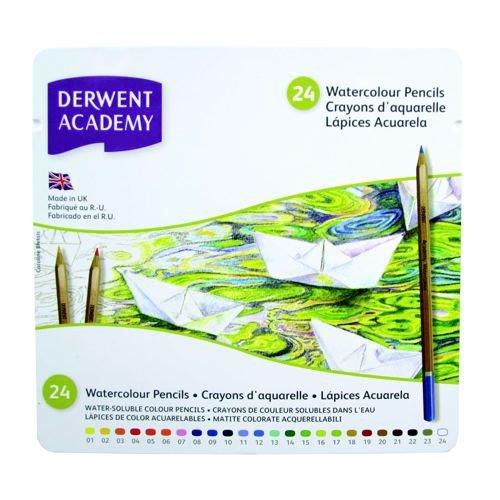 Derwent Academy Watercolour Assorted 24