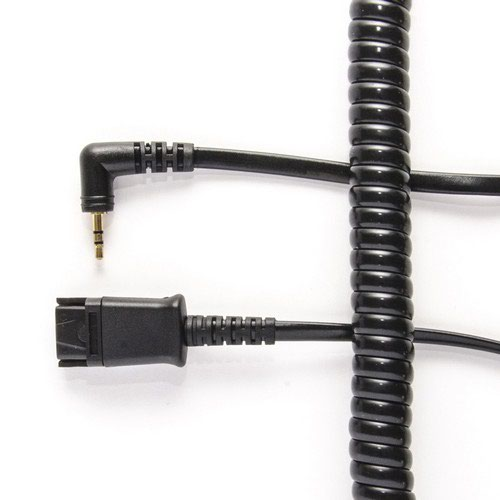 Plantronics Compatible Qd To 2.5Mm Jack Allows The Headset To Be Detached Without Losing The Call.