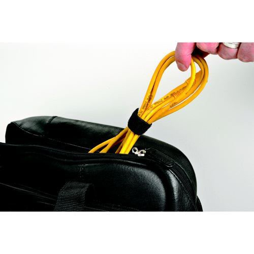 D-Line Cable Tidy Band Reusable Hook and Loop 1.2m Length Black