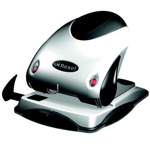 Rexel P240 2 Hole Punch Silver/Black