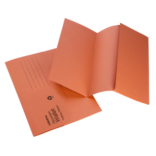 Initiative Document Wallet Foolscap Medium Weight 285gsm Orange