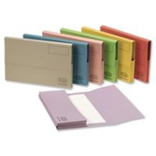 Elba Guidex Document Wallet Foolscap Pink Pack 50