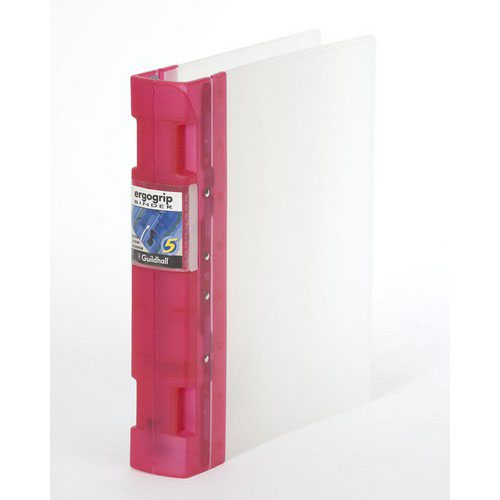 Guildhall GLX Ergogrip Frosted Ring Binder Raspberry