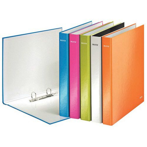 Leitz WOW 2 Ring A4 Binder 25mm Yellow