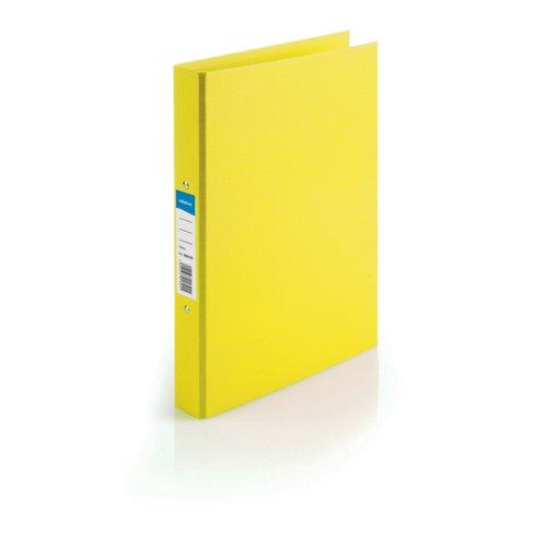 Initiative Polypropylene Coated Board 2 Ring Binder 25mm Capacity A4 Yellow