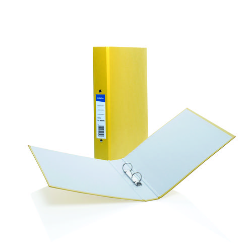 Initiative Paper on Board 2 Ring Binder 25mm Capacity A4 Yellow