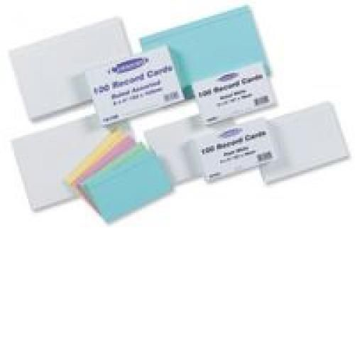 Record Card Smooth Ruled 2 Sides 203x127mm White Pack 100
